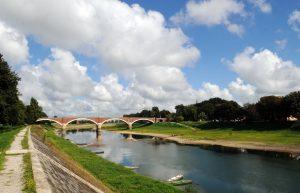 čamac, kupa i most