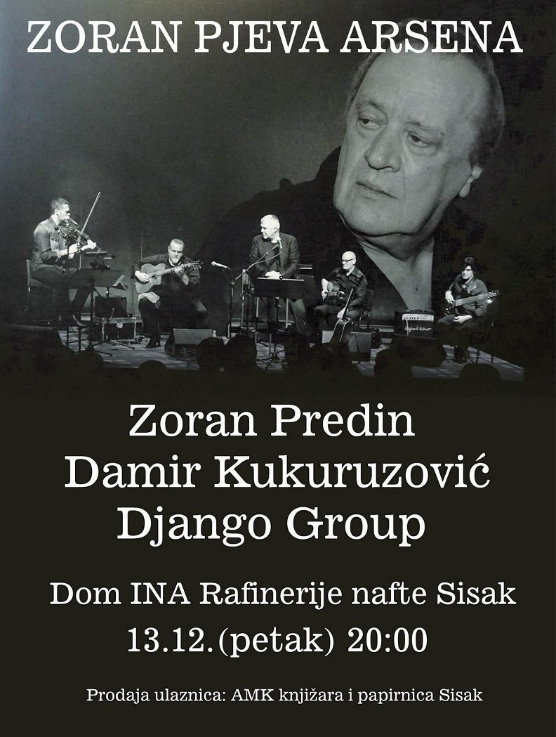 Zoran pjeva Arsena u Domu INA Rafinerije