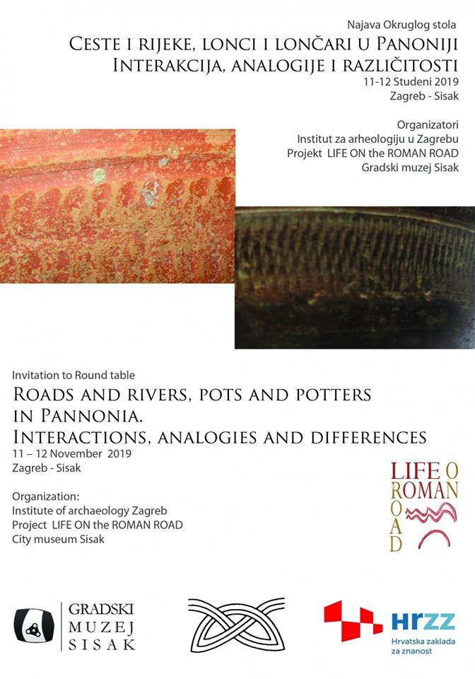 """Međunarodni okrugli stol pod nazivom """"Ceste i rijeke, lonci i lončari u Panoniji: interakcija, analogije i različitosti"""""""