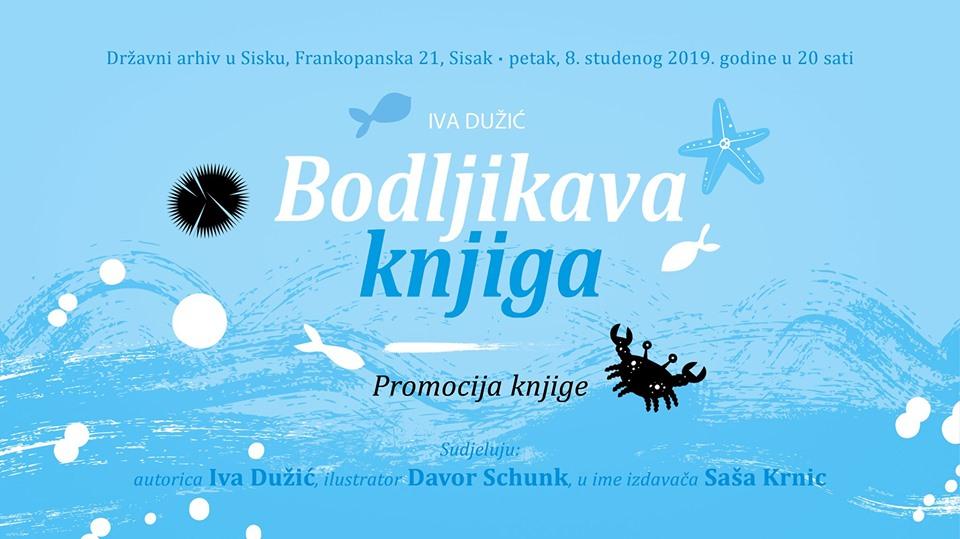 """Promocija knjige """"Bodljikava knjiga"""" Ive Dužić"""