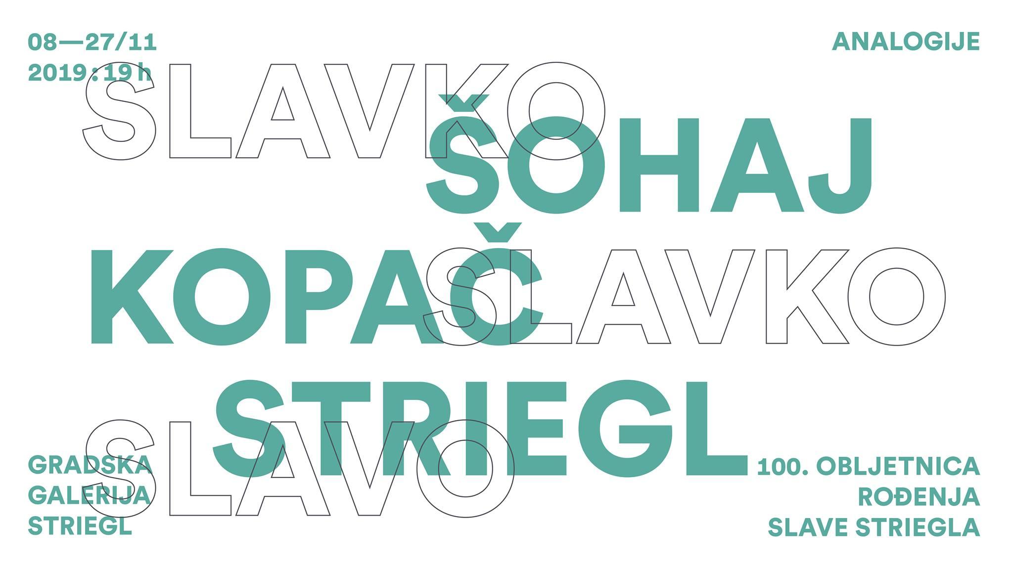 Kopač – Šohaj – Striegl: Analogije / izložba