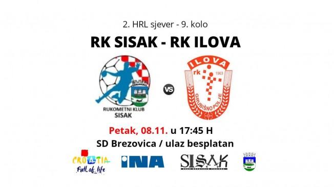 RK Sisak u petak dočekuje RK Ilova