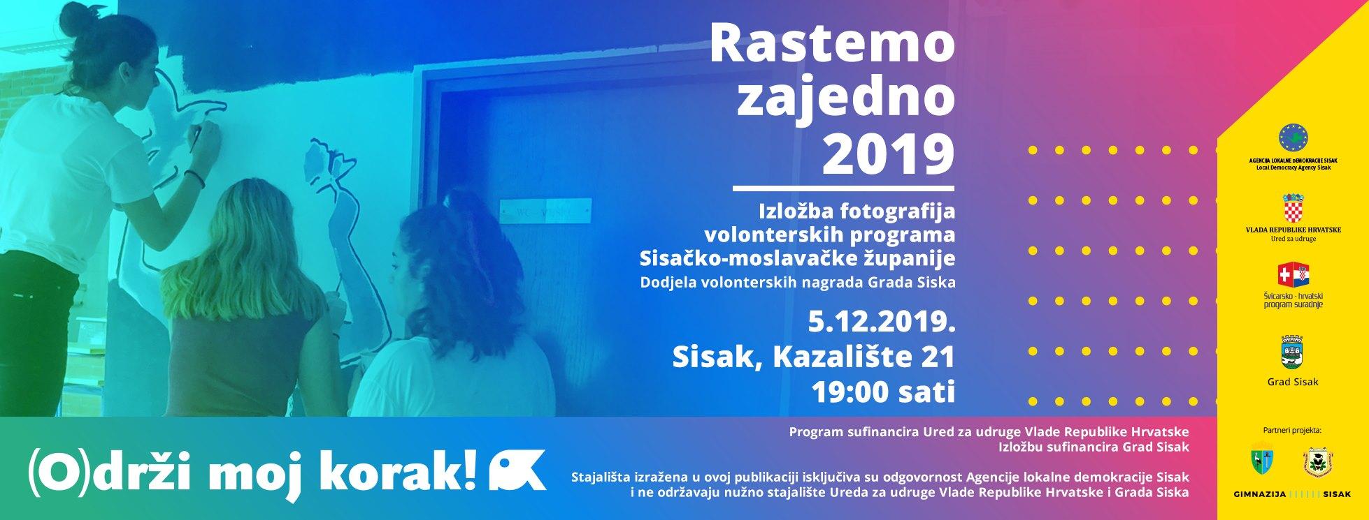 """Izložba """"Rastemo zajedno"""" i dodjela Volonterskih nagrada 2019"""