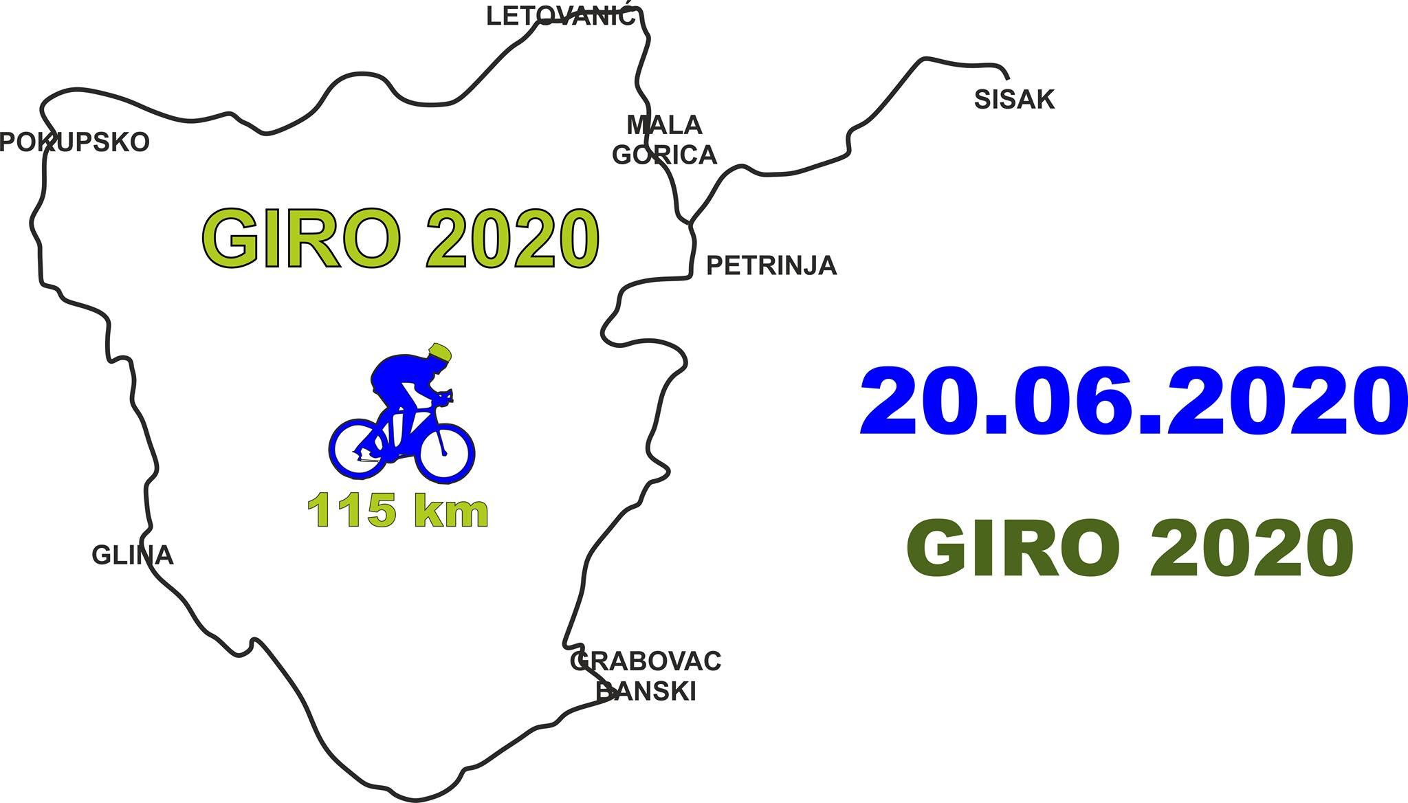 Cjelodnevna biciklistička vožnja GIRO 2020.