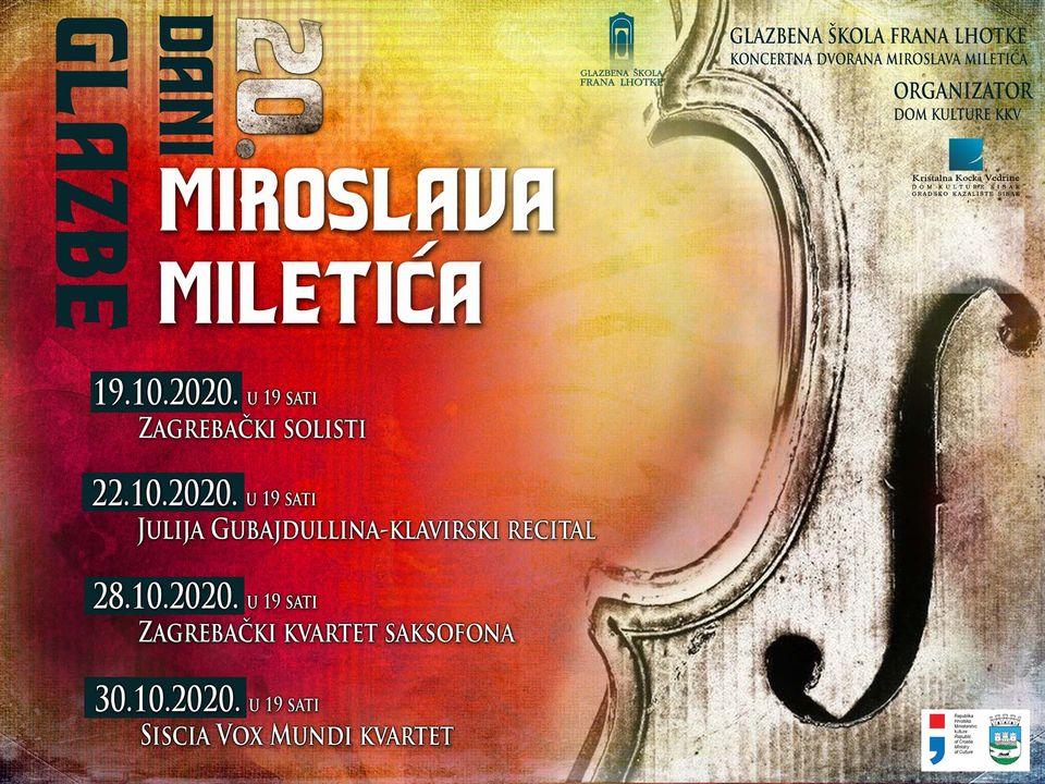20. Dani glazbe Miroslava Miletića