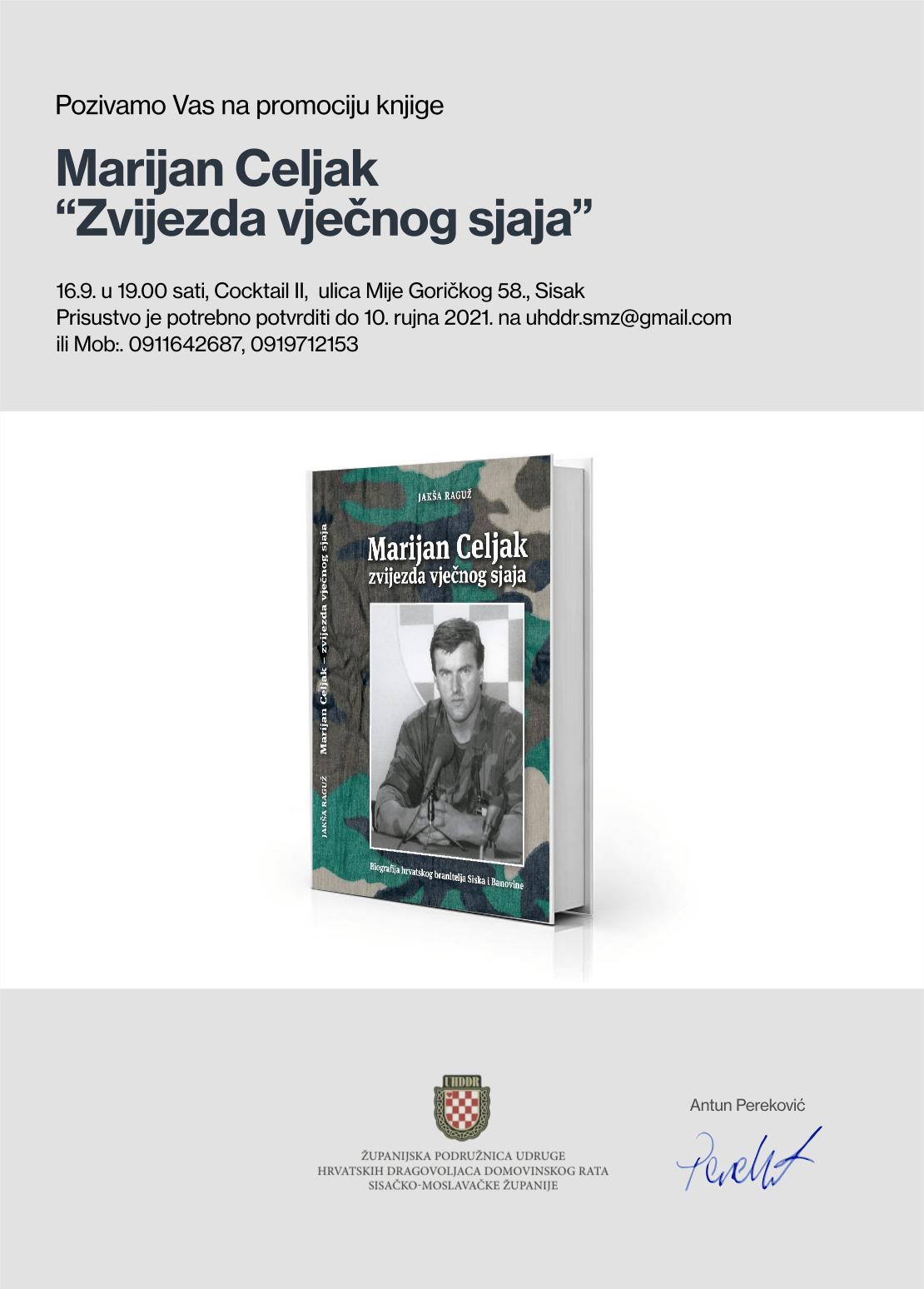 Promocija knjige Marijan Celjak zvijezda vječnog sjaja